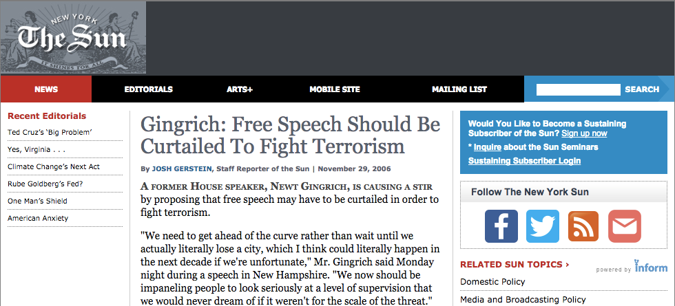Freedom of speech should have limitations essay