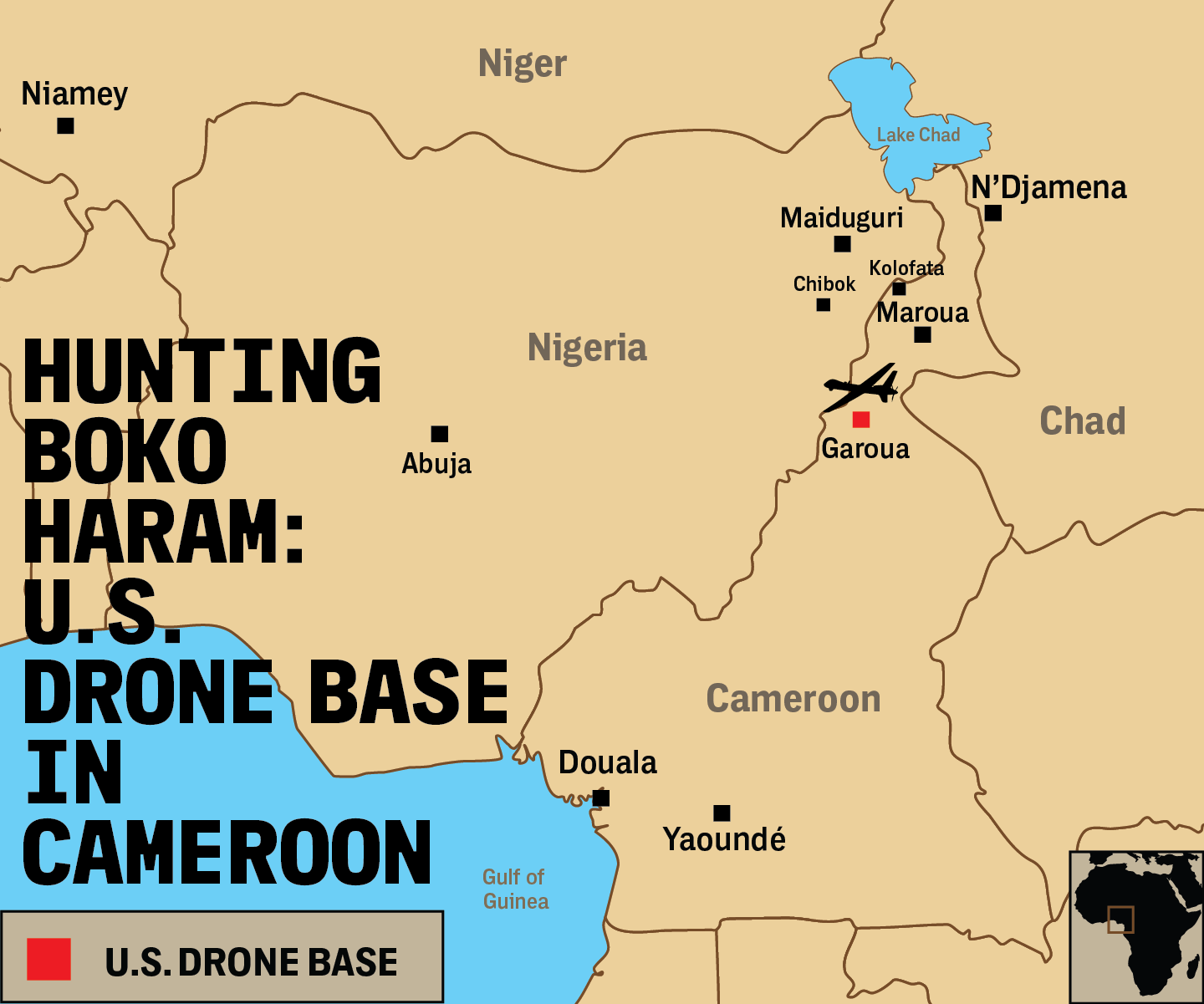 The US Extends Its Drone War Deeper Into Africa With Secretive Base - Map us milittary bases opened