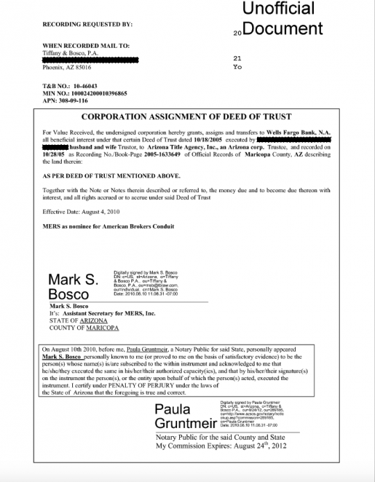 Foreclosure Fraud Is Supposed to Be a Thing of the Past But It – Assignment of Mortgage Template