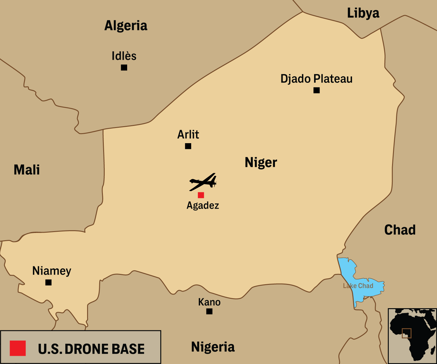 US Military Is Building A Million Drone Base In Africa - Us military bases in germany map