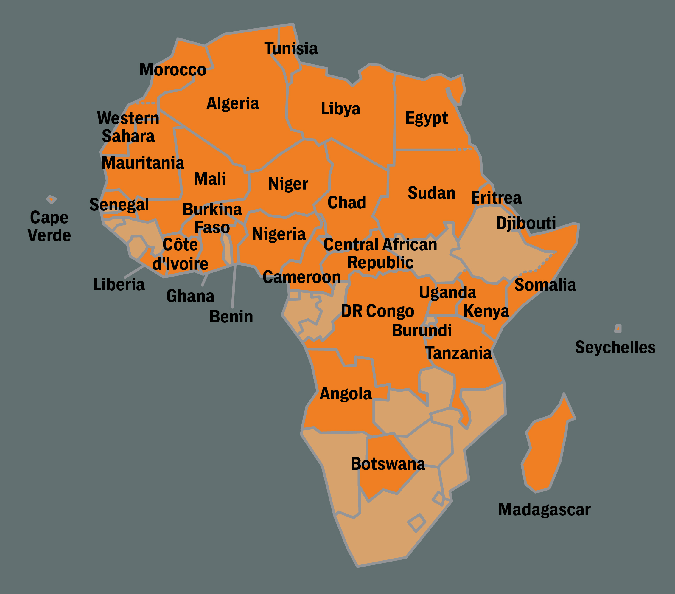 US Special Operations Numbers Surge In Africas Shadow Wars - Us military bases in africa map