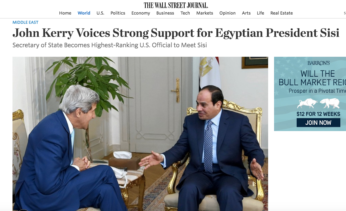 Image result for White House Meeting With Egypt's Tyrant Highlights Key Trump Effect: Unmasking U.S. Policy