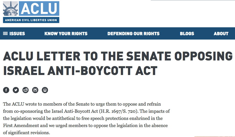 U.S. Lawmakers Seek to Criminally Outlaw Support for Boycott ...