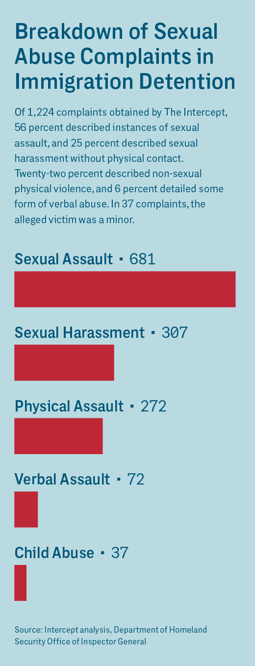 1,224 Records of Sexual Assault in ICE Detention