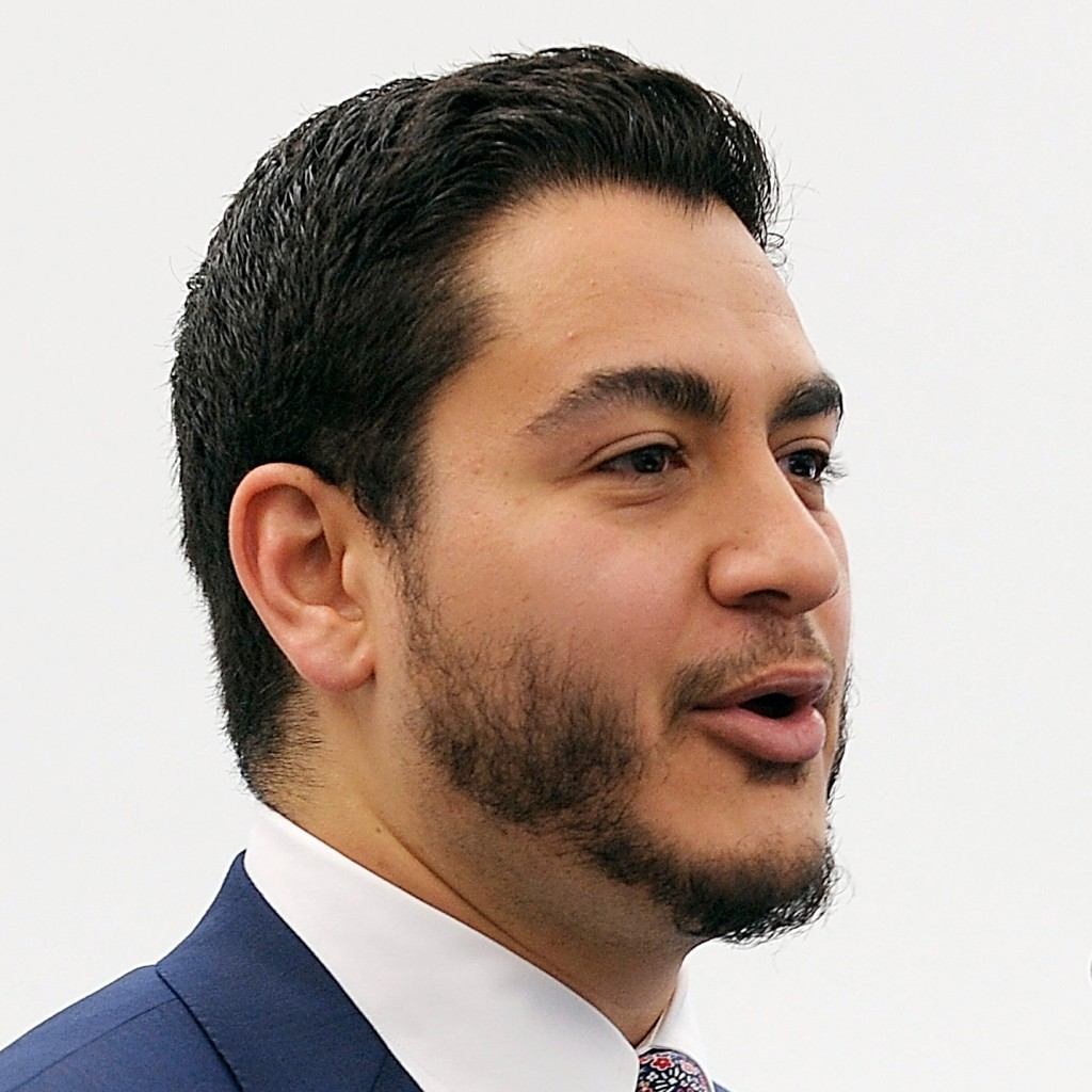 ADVANCE FOR JUNE 4 AND THEREAFTER- FILE- In a May 3, 2016 file photo, Dr. Abdul El-Sayed, Director of the Detroit Health Department, gives his remarks during the Mayor's Summit on Health Equity in Detroit. The Democratic gubernatorial candidate, who launched his campaign in February, said Democrats need someone who has a message and believes in it. El-Sayed, a 32-year-old Rhodes Scholar and son of Egyptian immigrants, led the Detroit Health Department for roughly 1½ years and has medical and doctorate degrees. (Clarence Tabb Jr./Detroit News via AP)