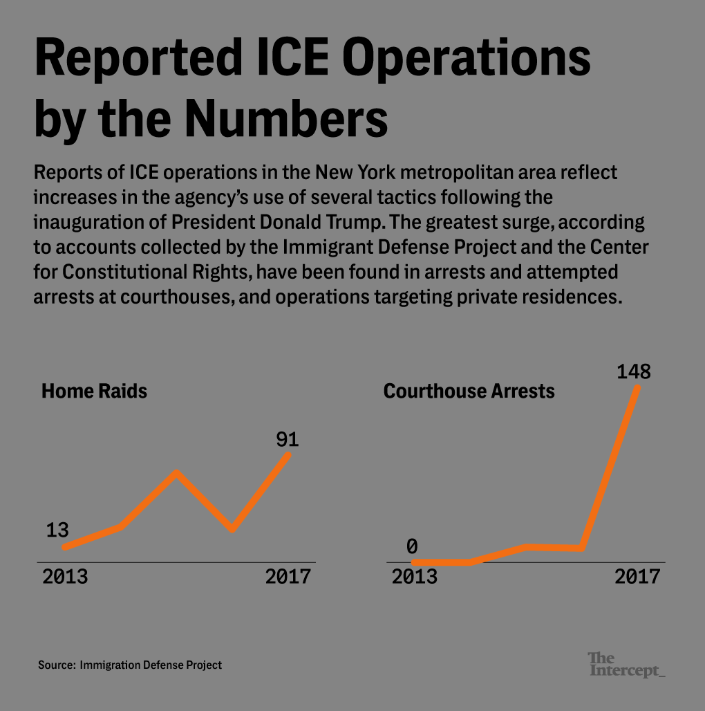 What Happened During Hundreds of ICE Raids in New York