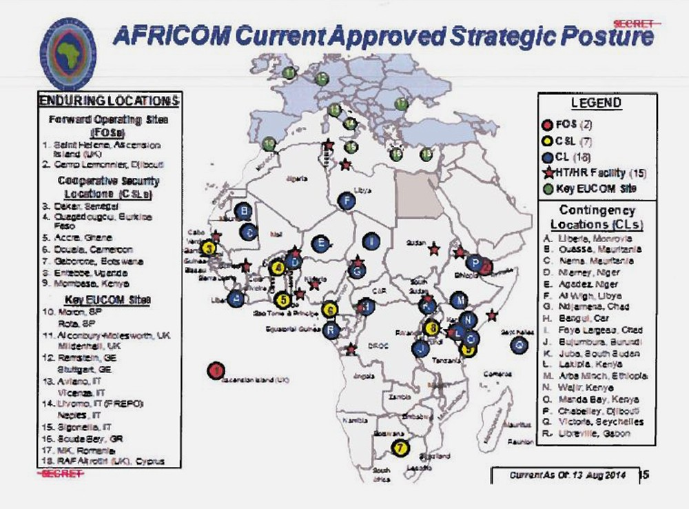 Documents Show Vast Network Of Us Military Bases In Africa - Map-of-all-army-bases-in-the-us