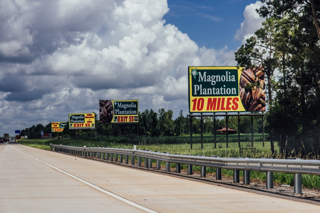 Magnolia Plantation billboards along the I-75, north of Adel.