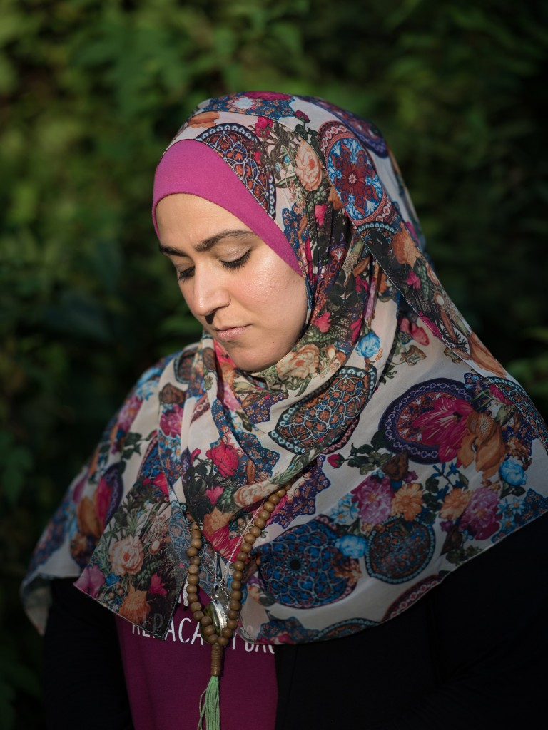 CAPTION: Tala Ali, an anti-pipeline activist who was affected by the surveillance actions of security contractor TigerSwan, poses for a portrait in the garden of her home in Cincinnati, OH on Friday, September 28, 2018. (Emma Joy Howells for The Intercept)