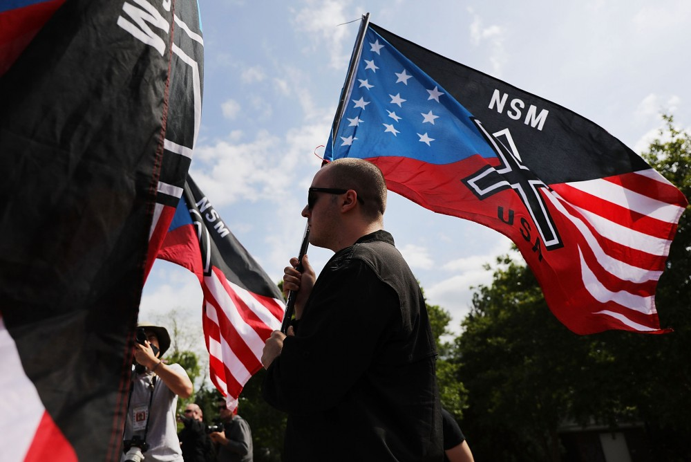 White Nationalists Hold Rally In Newnan, Georgia
