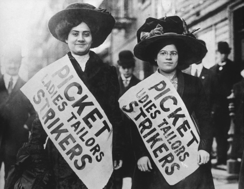Two Garment Workers Picketing, circa 1909. (Photo by: Universal History Archive/Universal Images Group via Getty Images)