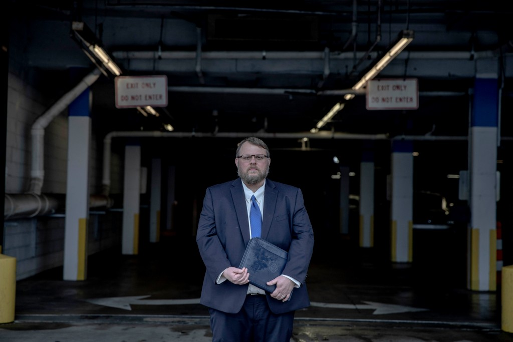 November 21, 2019 - Memphis, TN:  Thomas Castelli, the legal director of the ACLU of Tennessee, stands for a portrait.