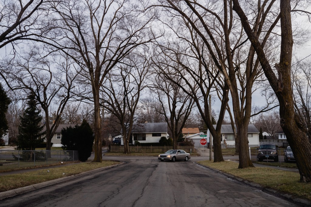 Angela Ramirez's neighborhood is seen in this photo. The neighborhood in Waukegan, Ill., is located in a census tract that is at high risk for cancer. Jan. 2, 2020. Pat Nabong for The Intercept.