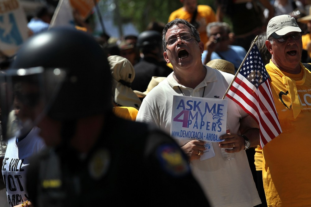 Despite Injunction Blocking AZ Immigration Law, Protests Continue